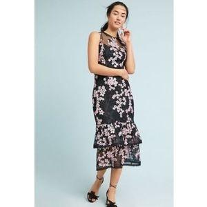 Shoshanna Dominic Tiered Midi Dress new